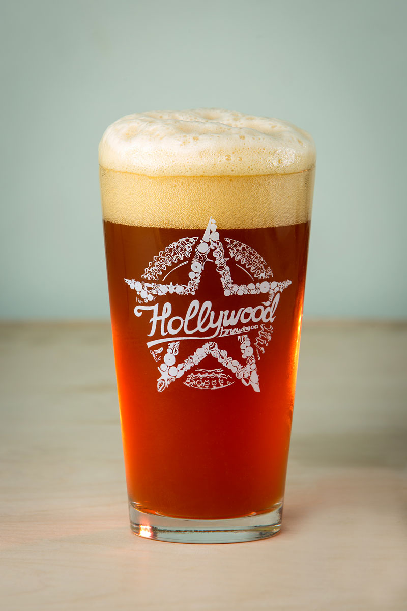 AMBER Lager beer Hollywood Brewing