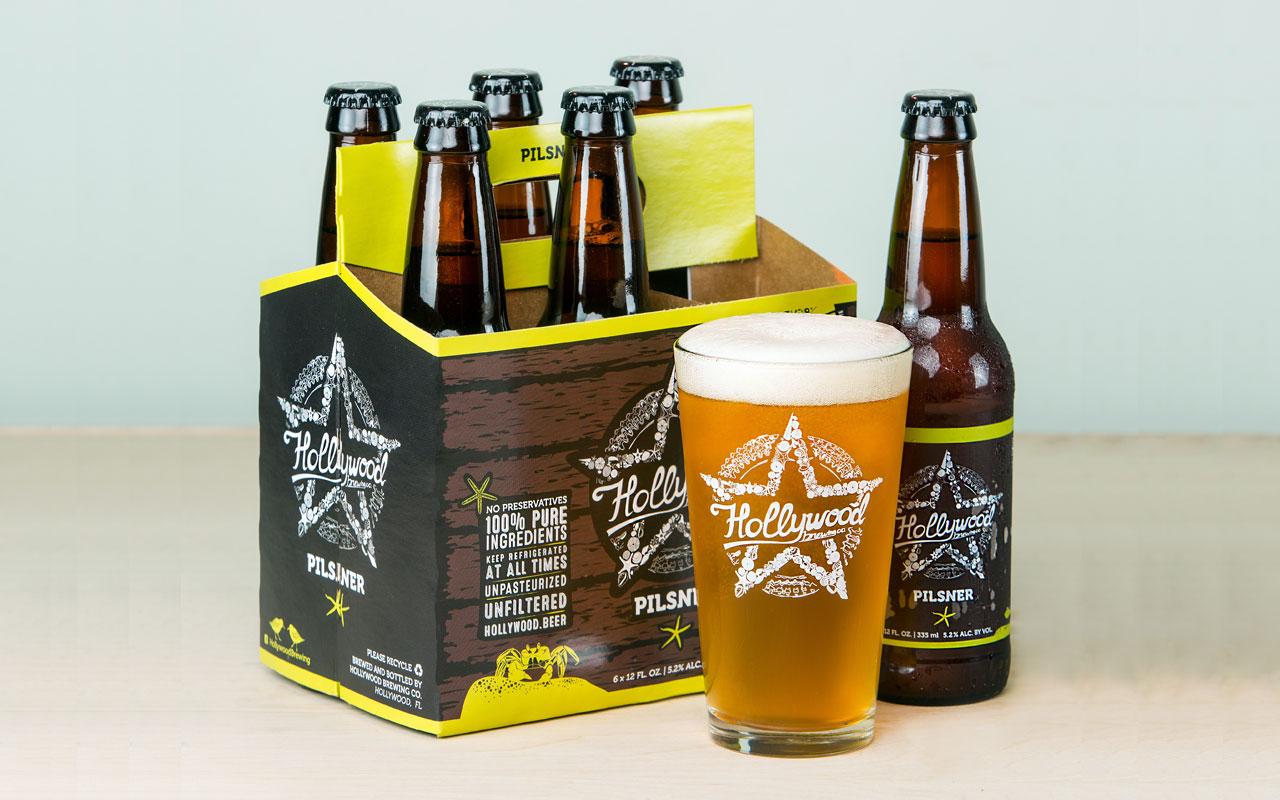 PILSNER beer Hollywood Brewing
