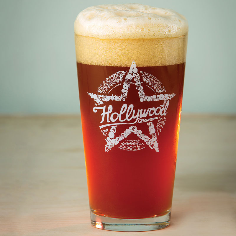 Amber Lager HO-BE Hollywood Brewing