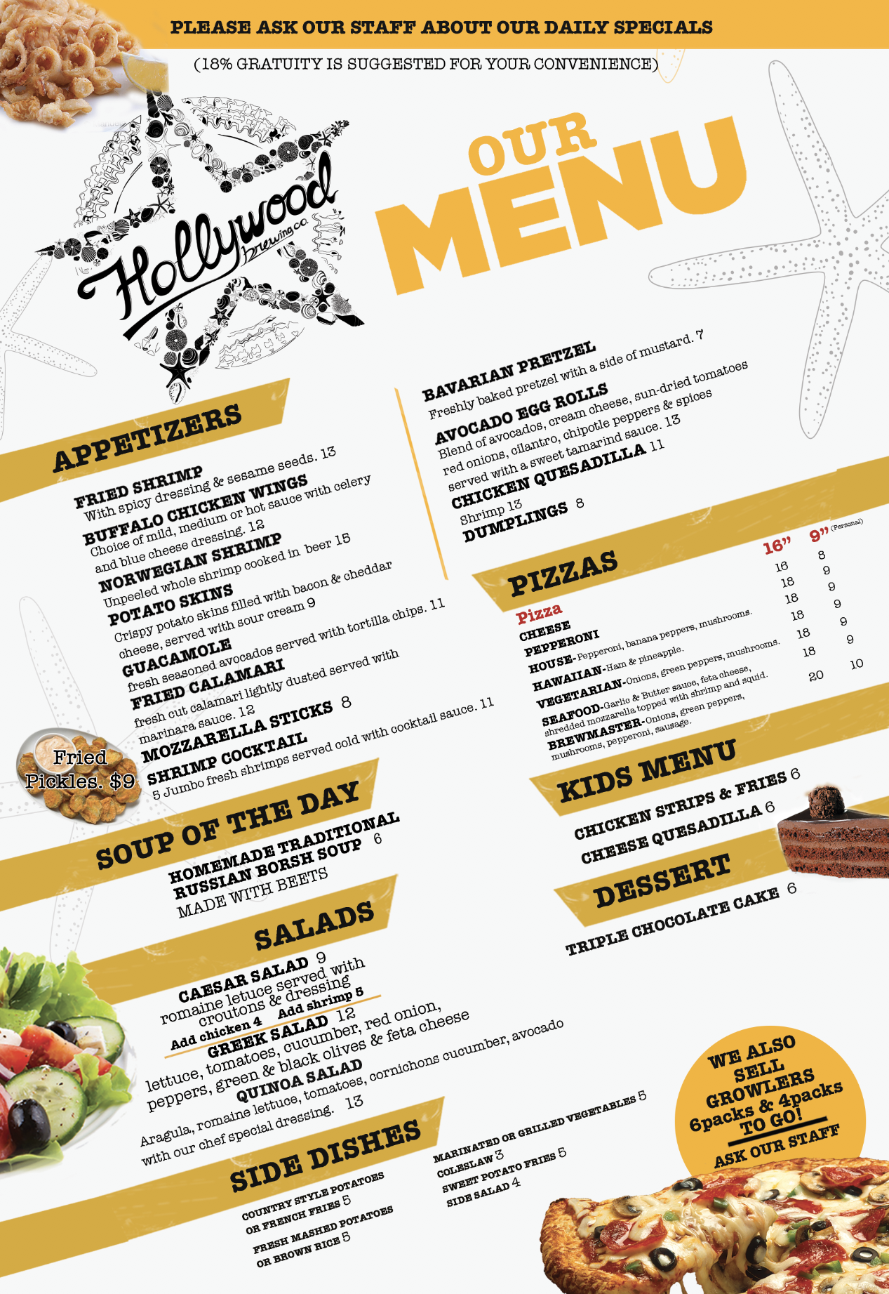 FOOD MENU SIDE 1 OF 2